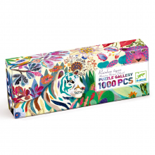 Rainbow Tiger 1000pc Gallery Jigsaw Puzzle + Poster by DJECO in Bethesda MD