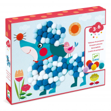 PomPom Puppies Collage Craft Kit by DJECO in Bethesda MD