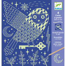 At Night Glow-in-the-Dark Scratch Card Activity Set by DJECO