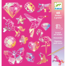 Diamond Holographic Sticker Scratch Art Activity Set by DJECO in Bethesda MD