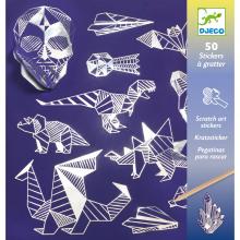 Iron Holographic Sticker Scratch Art Activity Set
