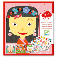 Make-A-Face Sticker Collage Activity by DJECO