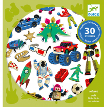 Retro Toys Puffy Sticker Sheets by DJECO in Squamish BC