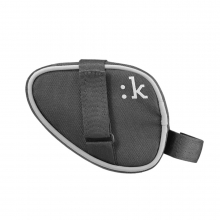 Saddle Bag With Velcro Straps - Anthracite