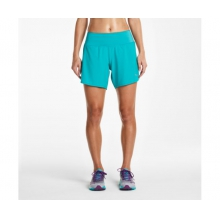 Women's Run Lux Short by Saucony in Glenwood Springs CO