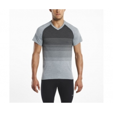 Men's Seamless V-Neck Short Sleeve