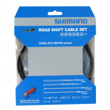 Road Shift Cable Set Polymer Coated For R9100, Ot-Rs900 Included - Black by Shimano Cycling