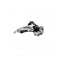 Front Derailleur, Fd-Ty500-Ts6, Tourney, Top-Swing, Dual-Pull, For Rear 6/7-Speed,Band Type 34.9Mm(W/S & M Adapter),Cs Angle:66-69, For 42T,Cl:47.5/50Mm