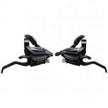 Shift/Brake Lever Set, St-Ef500-2A, 2X8Speed, Ez-Fire Plus, 2F-Alloy, For V-Brake, Std Sl (Sp41) & Bl Cbl (Black), Black