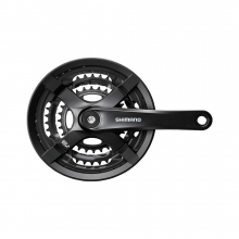 Front Chainwheel, Fc-Ty501, For Rear 6/7/8-Speed, 170Mm, 48X38X28T W/Chain Guard, W/Crank Fixing Bolt, Black by Shimano Cycling in Alamosa CO