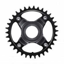 Chainring, Sm-Cre80-12-B, 38T W/O Cg, Chain Line 53Mm, Black by Shimano Cycling