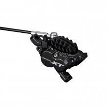 Hydraulic Disc Brake, Br-M8020, Deore Xt, Front Or Rear For Post Mount, W/O Adapter, W/H03C Metal Pad(W/Fin) by Shimano Cycling