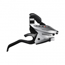 Shift/Brake Lever, St-Ef510-9R, Right 9-Speed Ez-Fire Plus, 2F-Alloy, For V-Brake, Silver Version by Shimano Cycling