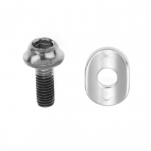 Fd-6600 Clamp Bolt (M5X13.5) & Radius Washer For Brazed-On Type by Shimano Cycling