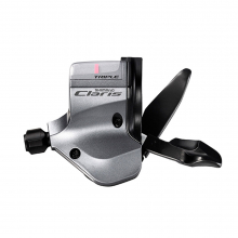 Shift Lever, Sl-2403, Claris For Flat Handlebar Road, Left 3-Speed Rapidfire Plus, Optical Gear Display by Shimano Cycling