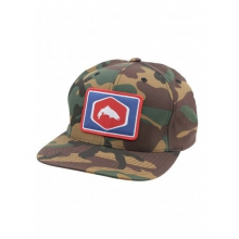Cotton Twill Patch Snapback by Simms