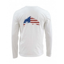 Simms Trout USA LS T-Shirt