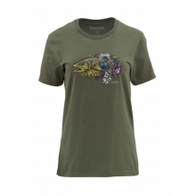 Womens Larko Brown Trout SS T by Simms