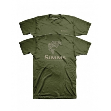 Stacked Typo Logo T-Shirt by Simms in Succasunna Nj