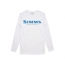Simms Logo LS Tech Tee by Simms in Edwards Co