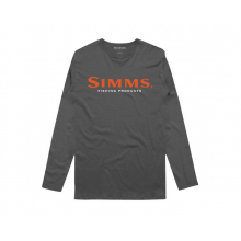 Simms Logo LS Tech Tee by Simms in Sioux City IA