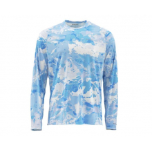 SolarFlex LS Crewneck Prints by Simms in Evergreen Co