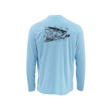 SolarFlex LS Crewneck Graphic Prints by Simms in Mobile Al