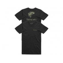 Men's Bass Pine Camo T-Shirt by Simms