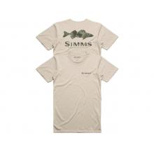 Men's Walleye Pine Camo T-Shirt by Simms