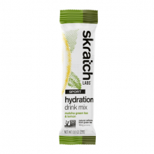 Sport Hydration Drink Mix, Matcha Green Tea and Lemons, Single Serving