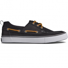 Men's Bahama 3-Eye Leather Black/White by Sperry in Knoxville TN