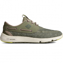 7 Seas Heathered Textile - Olive by Sperry in Squamish BC