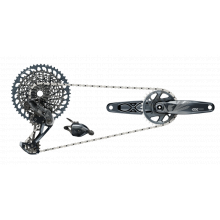 GX Eagle DUB Groupset Lunar (Rear Der, Trigger Shifter w Clamp, Crankset DUB 12s 170 w DM 32t X-SYNC Chainring, Chain 126 links 12s, Cassette XG-1275 10-52t, Chaingap Gauge) by SRAM