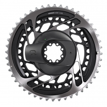 Power Meter KIT DM5643T RED AXS D1 GREY (Includes Power Meter w Integrated Chainrings, Red AXS 2-Position Front Derailleur) by SRAM