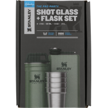 The Pre-Party Shotglass + Flask Set