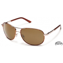 Aviator  - Brown Polarized Polycarbonate by Suncloud in Rogers Ar