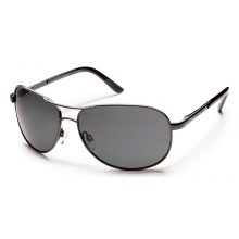 Aviator (Large Fit) Gunmetal by Suncloud in Meridian Id