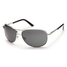 Aviator (Large Fit) Silver by Suncloud in Mobile Al