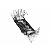 Mini PT30, 30 functions mini tool , w/power link chaintool and tubeless repair tool, w/tool bag, Black by Topeak