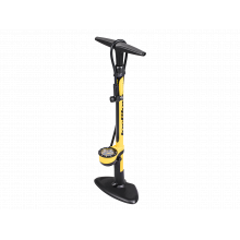 """JoeBlow Sport III floor pump, 160PSI/11 BAR, two tone handle, 3"""" gauge, TwinHead DX5"""