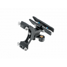 Tri-BackUp ELITE, AL rear hydration multi mount on saddle V rail section, multi angle adjustment, including one Micro AirBooster & 2pcs 16g CO2 cartridges, for saddles with angled rear rails by Topeak