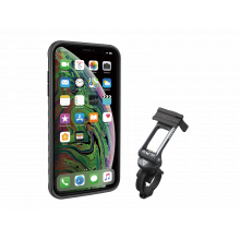 RideCase with RideCase Mount, works with iPhone XS MAX, Black/Gray by Topeak