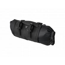 FrontLoader, handlebar mount bikepacking bag, 8 Liter, Black color w/Gray logo (update H/B mount)
