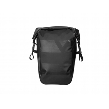 Pannier DryBag waterproof panner bag, w/reflective strap and QuickClick Mount, 15L, Black color, one piece