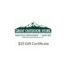 Great Outdoor Store $25 Gift Certificate