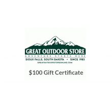 Great Outdoor Store $100 Gift Certificate