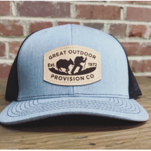 GOPC LEATHER PATCH HAT GREY