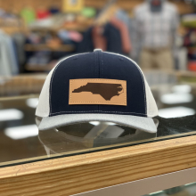 NC LEATHER PATCH HAT NAVY TRI by Great Outdoor Provision Co