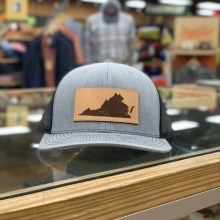 VA LEATHER PATCH HAT GREY by Great Outdoor Provision Co