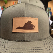 VA LEATHER PATCH HAT LODEN